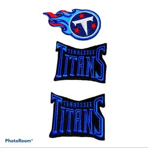 3 TENNESSEE TITANS NFL IRON ON PATCHES CAP JERSEYS